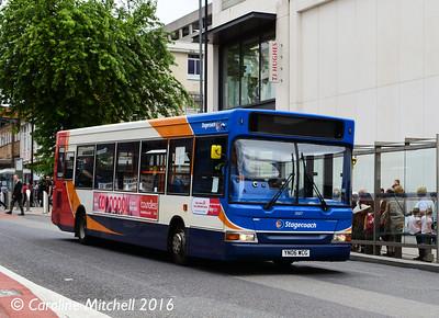 Stagecoach 35107 (YN06WCG), Cumberland Street, Sheffield, 3rd August 2016