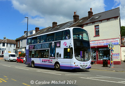 First 37122 (YK07AYX), Chesterfield Road, Woodseats, Sheffield, 4th August 2017