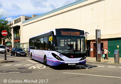First 67149 (YY16YLW), Cumberland Street, Sheffield, 5th August 2017