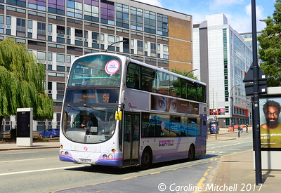 First 37527 (YN58ETV), Charter Row, Sheffield, 5th August 2017