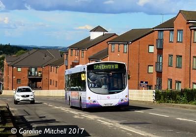 First 60722 (MV02VBP), Ridgeway Road, Gleadless Townend, Sheffield, 5th August 2017