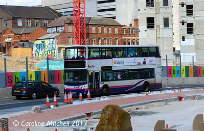 First 31134 (YU52VYK), Charter Square, Sheffield, 5th August 2017