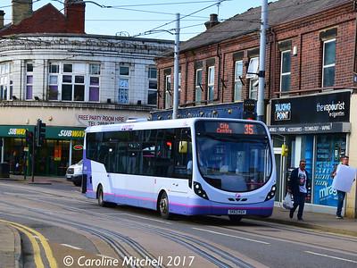 First 63020 (SK63KGV), Langsett Road, Hillsborough, Sheffield, 8th September 2017