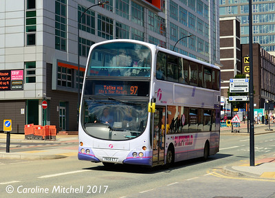 First 37520 (YN58ETJ), Charter Row, Sheffield, 5th August 2017