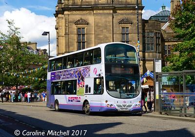 First 37114 (YK07AYN), Pinstone Street, Sheffield, 5th August 2017