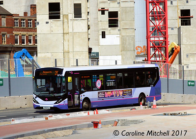First 67147 (YY16YLU), Charter Square, Sheffield, 5th August 2017