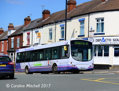 First 60704 (MV02VAA), Chesterfield Road, Woodseats,  Sheffield, 4th August 2017