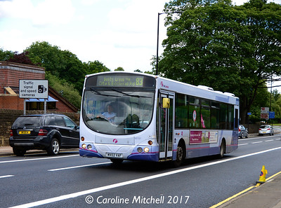 First 60707 (MV02VAF), Ecclesall Road, Sheffield, 5th August 2017