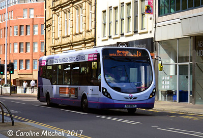 First 63011 (SM13NEF), Leopold Street, Sheffield, 4th August 2017