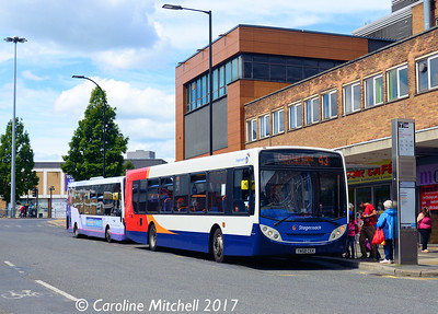 Stagecoach 22643 (YN58CEK), Fitzwilliam Gate, Sheffield, 5th August 2017