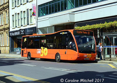 TM Travel 835 (YD63VDX), Leopold Street, Sheffield, 4th August 2017