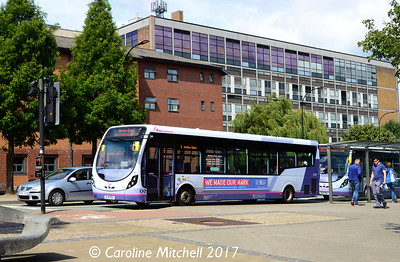First 63387 (SL16RDV), Charter Row, Sheffield, 5th August 2017