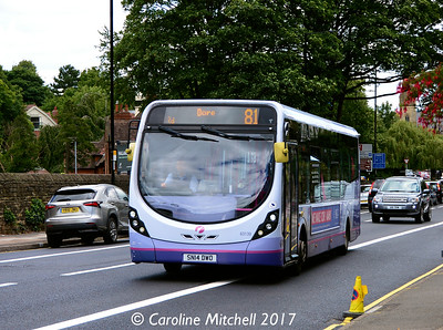 First 63139 (SN14DWO), Ecclesall Road, Sheffield, 5th August 2017