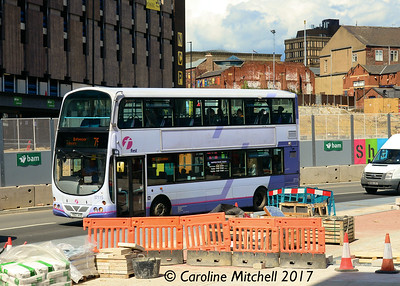 First 37115 (YK07AYO), Charter Row, Sheffield, 5th August 2017