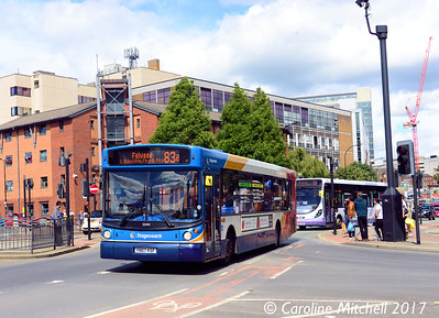 Stagecoach 22443 (YN07KSF), Moore Street, Sheffield, 5th August 2017