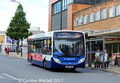 Stagecoach 36188 (YN60FKX), Fitzwilliam Gate, Sheffield, 5th August 2017