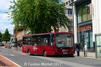 TM Travel 1198 (YN08JWC), Cumberland Street, Sheffield, 5th August 2017