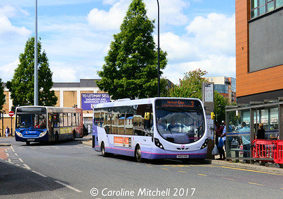 First 63030 (SK63KHG), Fitzwilliam Gate, Sheffield, 5th August 2017