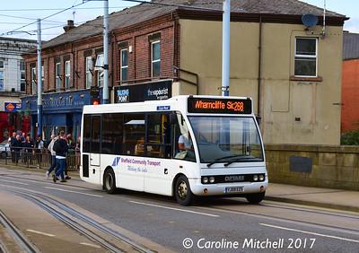 Sheffield Community Transport YJ09EZS, Langsett Road, Hillsborough, Sheffield, 8th September 2017