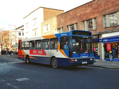 Stagecoach 20280 (R720RPY) is a Northern Counties bodied Volvo B10M, also seen on Cumberland Gate on 24th December.