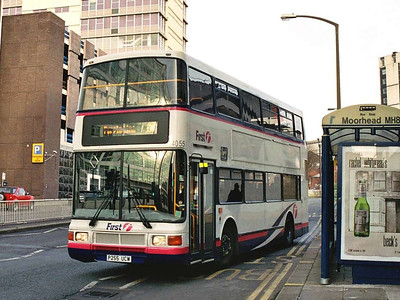At the other end of Charter Row another second hand Northern Counties Volvo Olympian, 34055 (P255UCW) was photographed
