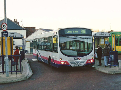 First Wright Eclipse bodied Volvo B7L 61200 (YU52VXR) in Hillsborough Interchange. I have no idea where Lime Line is.