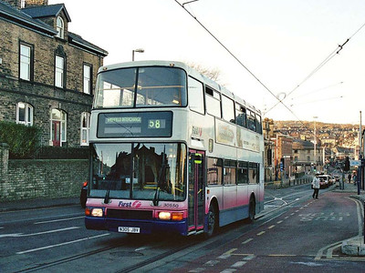 As is NCME bodied Olympian 30550 (N305JBV), seen in Hillsborough on Christmas Eve