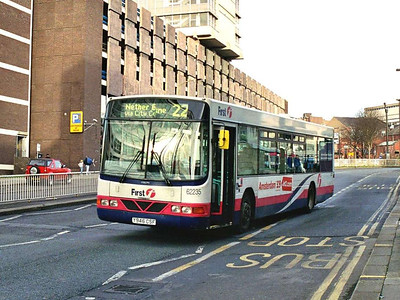 First 62235 (Y946CSF) was an Wright bodied Volvo B10BLE, another bus transferred from somewhere else in First world.