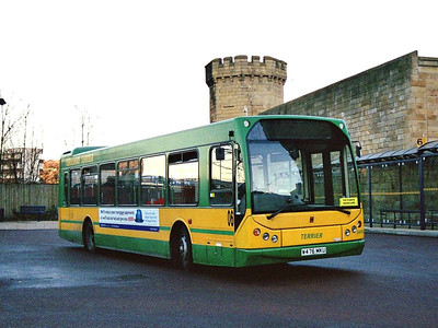 Yorkshire Terrier 2476 (W476MKU), in Hillsborough Interchange, is an East Lancs bodied DAF SB250