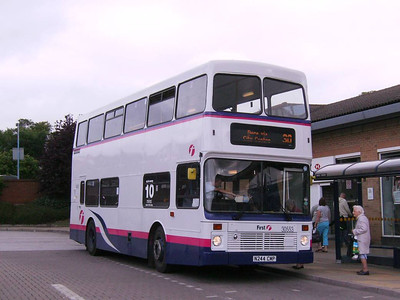 First Northern Counties bodied Volvo Olympian 30553 (N244CMP) at Crystal Peaks on 17th August