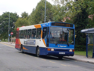 Stagecoach 20892 (P892MNE), a Northern Counties bodied Volvo B10M on Chapel Street, Woodhouse, 17th August