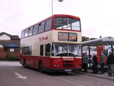 TM Travel 1113 (J628CEV), an Alexander (Belfast) bodied Leyland Olympian at Crystal Peaks, 17th August
