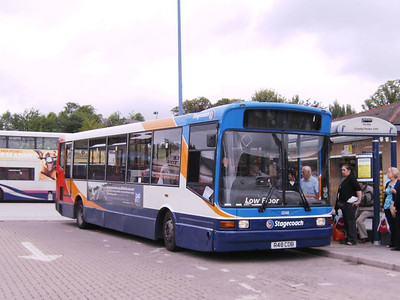 Stagecoach Marshall bodied Dennis Dart SLF 33348 (R48CDB), an ex Maynes vehicle, which took me to Wooodhouse on route 123, 17th August