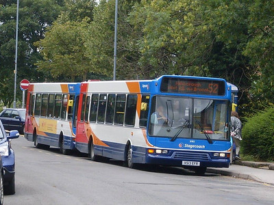 Stagecoach Volvo B6BLE/East Lancs 31903 (V513EFR) on Chapel Street, Woodhouse, 17th August