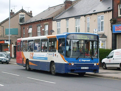 Unexpected on route 52 was Stagecoach 20930(R930XVM), an Alexander bodied Volvo B10M-55, seen on Main Road in Darnall. THis bus later took me from Darnall to Crookes.