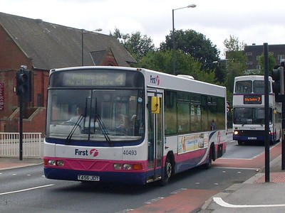First 40493 (T456JDT), a Wright bodied Volvo B6LE, on Prince of Wales Road at Darnall whilst operating service 4 on 17th August