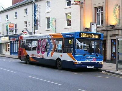 Stagecoach 35116 (YN06WCU), Leopold Street, Sheffield, 23rd December 2012