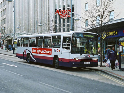 Another, older, Volvo B10M in the First fleet is 60468 (G623NWA), on Angel Street