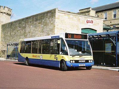 Yorkshire Terrier 203 (YN53ZWD) is another Optare Solo in Rural Links livery, Hillsborough Interchange