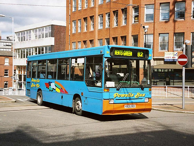 Powells 23 (K826NKH), an early Plaxton bodied Dennis Dart which originated with London Transport. I think I might have ridden this bus many times on route 84A/184 in London in the mid-nineties