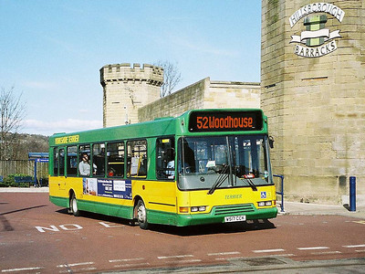 Also leaving Hillsborough Interchange is Yorkshire Terrier 2507 (W517CCK), another East Lancs bodied Volvo B6BLE