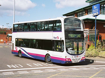 First Wright Gemini bodied Volvo B7TL 31804 (YN53FGC) leaving Meadowhall