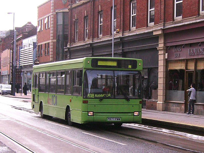 Another MASS bus on West Street is Dennis Dart/Plaxton P877PWW