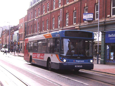 Stagecoach 22422 (YN07KPO) on West Street, 21st September 2007, is another bus with destination screen working (it is on route 123) but not registering on the camera