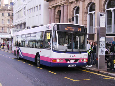 First Wright bodied Volvo B10B 60626 (R789WKW) loading on Church Street, 21st September 2007