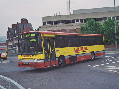 A later Volvo B10M/Alexander 777 (N277CKY) turning into Bank Street