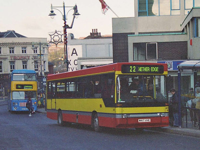 Volvo B6-50/Plaxton 417 (M417VHE) on Waingate.