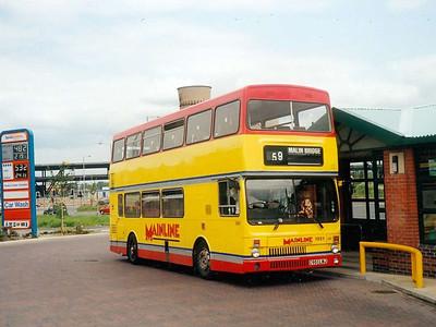 MCW Metrobus Mark II 1951 (C951LWJ) at Meadowhall Interchange on 21st June 1993. Unleaded at 48.2p per litre!