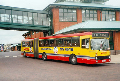 Leyland-DAB 2013 (C113HDT) at Meadowhall Interchange with branding for route 501, 21st June 1993