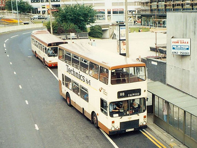 Dennis Dominator/Alexander 2129 (MWB849W) on Charter Row, 9th Auigust 1985.